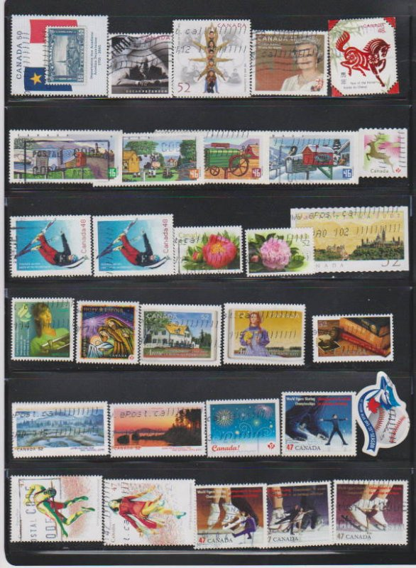 LOT OF DIFFERENT STAMPS OF CANADA USED(30) LOT#316