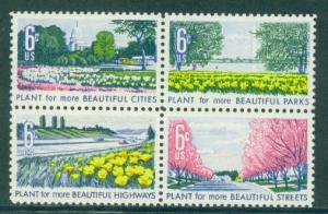 1365-1368 6c Beautification Barely Clears MNH Plt/4 UR 30665 F01020