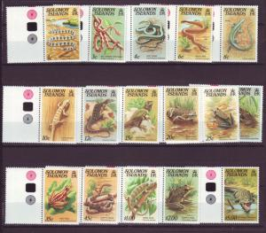 J18835  jlstamps all 1979 issues solomon islands mnh part of set #397//412