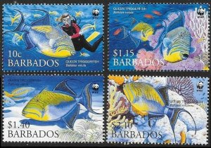2006 Barbados 1119-1122 Sea fauna 5,50 €