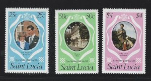 St. Lucia  mnh  sc# 543-545