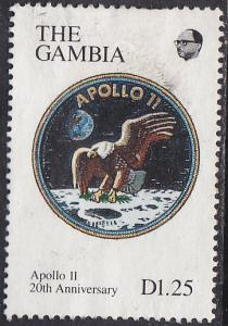 Gambia 964 Hinged 1990, 20th Anniversary of the Moon Landing