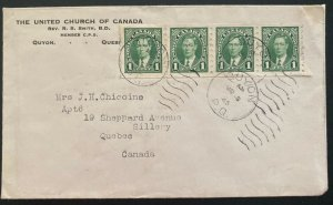 1925 Quyon Canada United Church Cover To Quebec