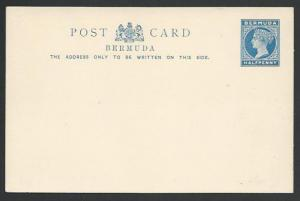BERMUDA QV ½d postcard unused..............................................56902