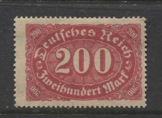 GERMANY. -Scott 157- Definitives -1922- MH - Single 200m Stamp