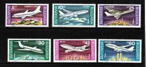 D3-Bulgaria-Scott#3557-62-unused NH set-Aircraft-Planes-19