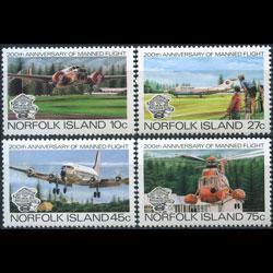 NORFOLK IS. 1983 - Scott# 310-3 Planes Set of 4 NH