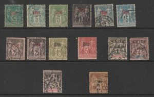 French PO's in China a small lot used (French stamps)