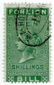 (I.B) QV Revenue : Foreign Bill 10/- (1872)