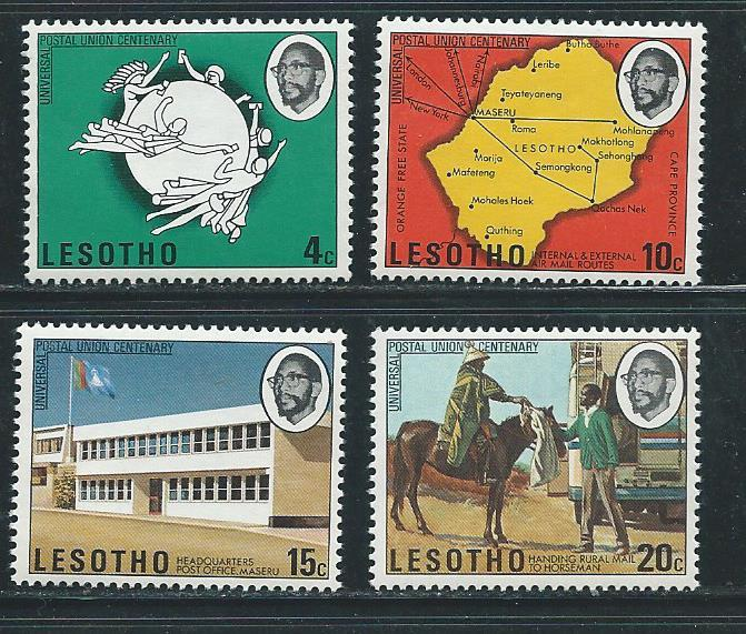 Lesotho 166-9 1974 100th UPU set MNH