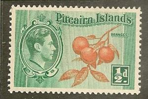 Pitcairn Is.     Scott  1     Oranges     Unused
