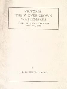 Victoria: The V over Crown Watermarks Types, Suppliers, Varieties. Australia