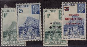 FRENCH GUINEA MNG Scott # 166-167, B15-B16 Ford & Petain - rem, B15 thin (4 Sts)
