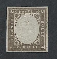 ITALIAN STATE - SARDINIA SC# 11e VF NG 1861