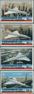 New Hebrides French 1978 SGF272-F275 Concorde set MNH