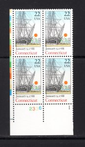 US #2340,  Plate # Block, VF, MNH, Connecticut..1788, CV $2.50 ...... 6784696