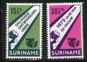 Suriname Scott B220-221 MNH** 1975  semi-postal set