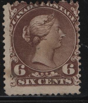 Canada, 27, NO GUM, THIN, 1868-76, Queen Victoria