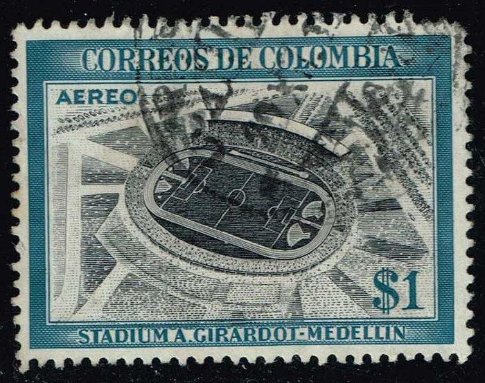 Colombia #C249 Medillin Stadium; Used (0.25)