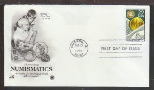 US 2558 Numismatics 1991 PCS U/A FDC