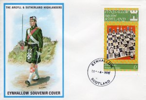 Eynhallow 1978 CHESS Souvenir Sheet imperforated (1) FDC.