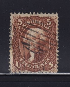75 Red Brown VF used neat cancel with nice color cv $ 475 ! see pic !