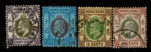 Hong Kong SG# 66-69, Used, Hinge Remnant, see notes - S4392