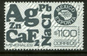 MEXICO Exporta 1589, $1100P Minerals w/Burelage Paper 10 MINT, NH. VF.