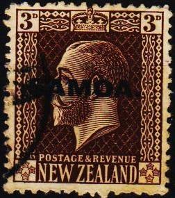 Samoa. 1916 3d S.G.140a Fine Used