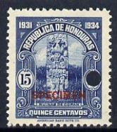 Honduras 1931 Ruins at Copan 15c unmounted mint optd SPEC...