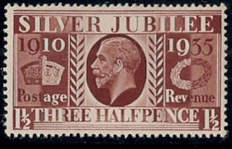 Great Britain 1.5d Silver Jubilee #228 MNH United Kingdom VF