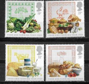 Great Britain # 1248-51  Food & Farming  1989  (4) Mint NH