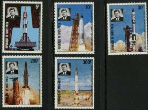 BURKINO FASO Sc#298-300, C167-168 1973 J. F. Kennedy-Space Complete OG MNH