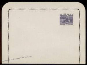 Austria 1932 Landschaften Scenery 40Gr Stamp Indicia Private Postal Card 79490