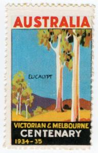 (I.B) Australia Cinderella : Victoria & Melbourne Centenary (Eucalyptus)