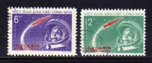 North Vietnam 160-161 Set U Yuri Gagarian's Space Flight (G)