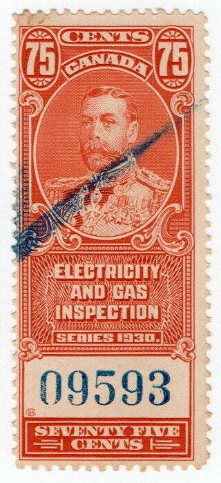 (I.B) Canada Revenue : Electricity & Gas Inspection 75c
