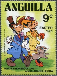 Anguilla 1981. Horace Horsecollar and Clarabelle Cow (MNH OG) Stamp