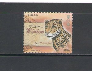 MEXICO: 2019 N I  / **Beautiful JAGUAR **/ Single /  MNH.