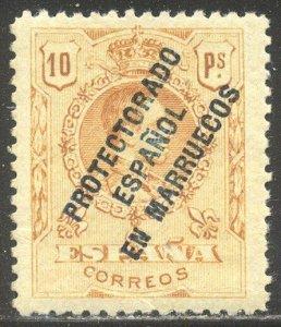 SPANISH MOROCCO #51 Mint NH - 1915 10p Orange