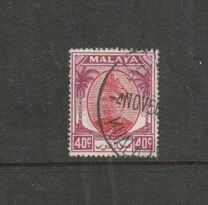 Malaya Selangor 1949/55 40c Used SG 106
