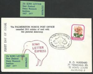 NEW ZEALAND 197 cover Kiwi Leter Express, Dairy research cinderella........64737