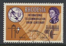 Rhodesia   SG 353  SC# 202    Used  ITU Centenary  see details