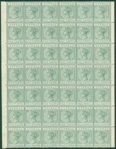 CYPRUS : 1883. Stanley Gibbons #16a Mint. Part pane of 42. PO Fresh, Perfect Gum
