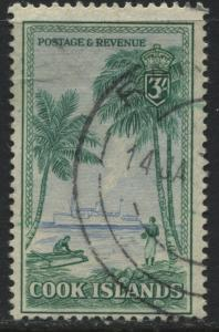 Cook Islands 1949 3/ used