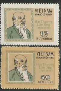 Vietnam 1971 MNH Stamps Scott 628-629 Medicine Physician Hai Thuong Lan Ong