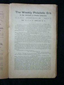 7 WEEKLY PHILATELIC ERA USA JOURNALS by WW JEWETT No's 35 37 44-47
