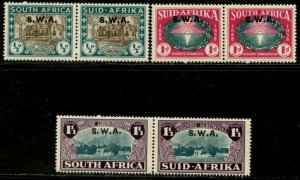 SOUTH WEST AFRICA Sc#B9-B11 SG#111-113 1938 Huguenot PRs Cpl Mint Hinged