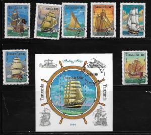 Tanzania 1209-16 Used Sailing Ships