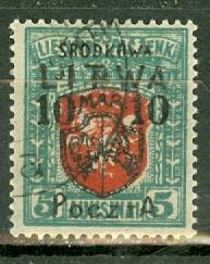 Central Lithuania 21 used CV $1800
